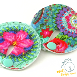 """Crochet  Flower Print"" set van 2 g/j sondepads"