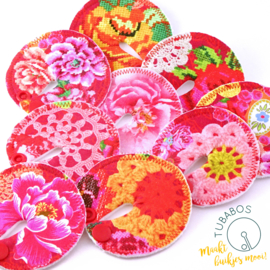 """""""Embroidery Flower Print Red"""" 1 g/j sondepad"""