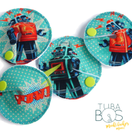 """Robot"" set van 4 g/j tube pads"