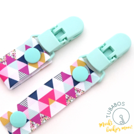 "1 Roll up clip ""Minty Triangle"""