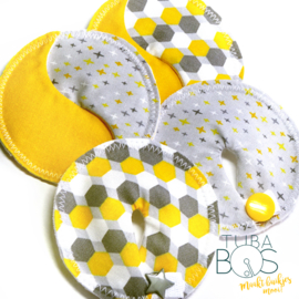 """Honey Stars"" set van 2 g/j tube pads en 2 g/j easy pads"