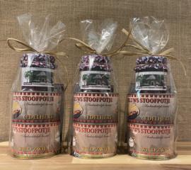 Veluwse Geschenkverpakking met 2 stoofpotjes en vossenbessencompote