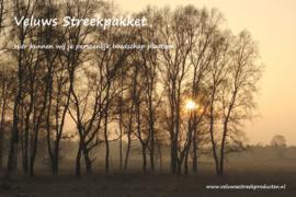 Veluws Streekpakket - Veluws landschap met opkomende zon