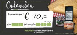Cadeaubon € 70,00