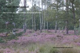 Veluws Streekpakket - afbeelding bloeiende heide met berkenbomen