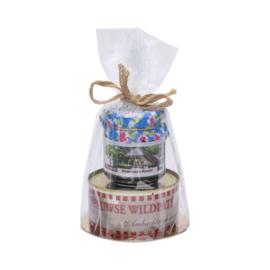 Geschenkverpakking met paté en bosbessenkaneeljam