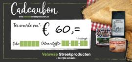 Cadeaubon € 60,00