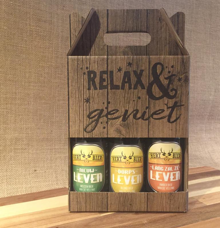 Drie heerlijke Hert biertjes in een leuke geschenkverpakking.