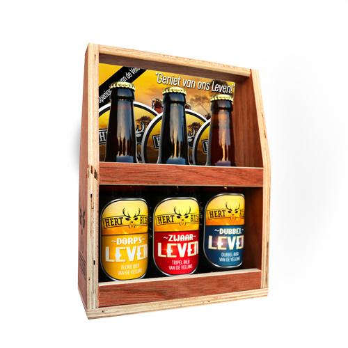 Veluws Hert Bier in een leuk houten kratje