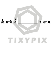 Horizon - zwarte print