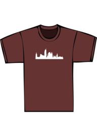 Skyline den haag txt no - witte print