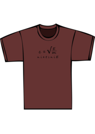 E=mc2 - zwarte print