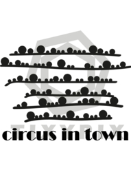 Circus in town txt yes - zwarte print