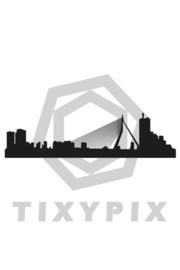 Skyline rotterdam txt no - zwarte print