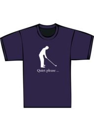 Golfer quiet please - witte print