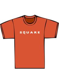 Square - witte print