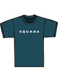 Square - witte print