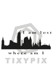 Skyline den haag i'm lost - zwarte print