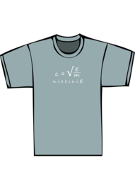 E=mc2 - witte print