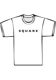 Square - zwarte print