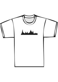 Skyline amsterdam txt no - zwarte print