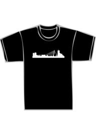 Skyline rotterdam txt no - witte print
