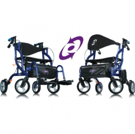 Airgo Fusion Transport Rolstoel & Rollator in 1