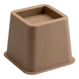 Bedverhoger / meubelverhoger 8 cm BRUIN (PER STUK)