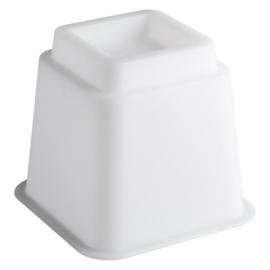 Bedverhoger / meubelverhoger 13 cm WIT (PER STUK)