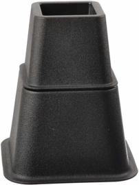 Bedverhoger / meubelverhoger ZWART. 8, 13 en 21 cm (PER STUK)