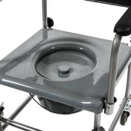 Mobiele Toiletstoel met wielen, postoel Luuk