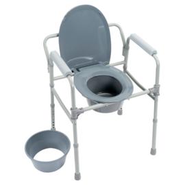 Toiletstoel, Postoel 3-in-1, inklapbaar