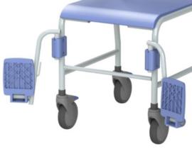 Timo douche-/toiletstoel mobiel met voetsteunen
