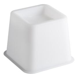 Bedverhoger / meubelverhoger 8 cm WIT (PER STUK)