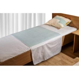 Wasbare matrasbeschermer met instopstroken