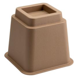 Bedverhoger / meubelverhoger 13 cm BRUIN (PER STUK)