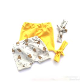 Haarband effen geel