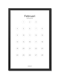 Aftelkalender januari/februari A4