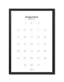Aftelkalender juli/augustus A4
