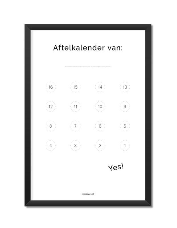 Aftelkalender Algemeen A4