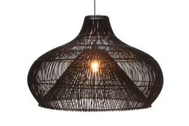 Rattan - Dome zwart 70 cm