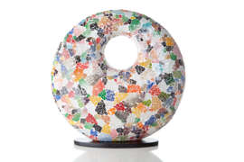 Glas multi color - Donut