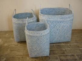 Mand vierkant blauw  27, 35 of 48 cm