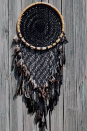 Dromenvanger macrame zwart Ø 42 cm
