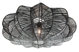Rattan - Star zwart 80 cm