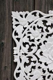 Wandpaneel  Bali wit 50 x 50 cm