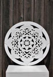 Wandpaneel Bali  wit Ø 50 cm