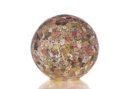 Glas multi color - Staande bol 30 cm