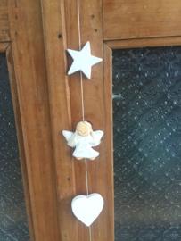 Streng witte engeltjes 100 cm