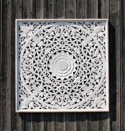 Wandpaneel Bali  wit 80 x 80 cm